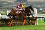 10 March 2020; Shishkin, with Nico de Boinville up, right, jump the last next to eventual second Abacadabras, with Davy Russell up, on their way to winning the Sky Bet Supreme Novices' Hurdle on Day One of the Cheltenham Racing Festival at Prestbury Park in Cheltenham, England. Photo by David Fitzgerald/Sportsfile