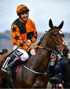 10 March 2020; Jockey Aidan Coleman on Put The Kettle On celebrates after winning the Racing Post Arkle Challenge Trophy Novices' Chase on Day One of the Cheltenham Racing Festival at Prestbury Park in Cheltenham, England. Photo by David Fitzgerald/Sportsfile