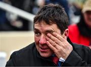 10 March 2020; Trainer David Bridgwater reacts after sending out The Conditional to win the Ultima Handicap Chase during Day One of the Cheltenham Racing Festival at Prestbury Park in Cheltenham, England. Photo by David Fitzgerald/Sportsfile