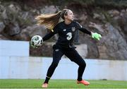 10 March 2020; Goalkeeper Grace Moloney during a Republic of Ireland Women training session at Pod Malim Brdom in Petrovac, Montenegro. Photo by Stephen McCarthy/Sportsfile