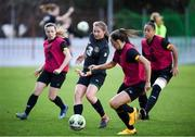 10 March 2020; Kyra Carusa, centre, during a Republic of Ireland Women training session at Pod Malim Brdom in Petrovac, Montenegro. Photo by Stephen McCarthy/Sportsfile