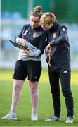 10 March 2020; Kate Keaney, STATSports performance analyst, and manager Vera Pauw during a Republic of Ireland Women training session at Pod Malim Brdom in Petrovac, Montenegro. Photo by Stephen McCarthy/Sportsfile