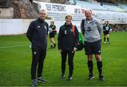 10 March 2020; FAI High Performance Director Ruud Dokter, manager Vera Pauw and goalkeeping coach Jan Willem van Ede during a Republic of Ireland Women training session at Pod Malim Brdom in Petrovac, Montenegro. Photo by Stephen McCarthy/Sportsfile