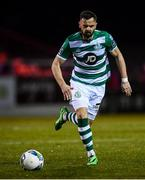 7 March 2020; Greg Bolger of Shamrock Rovers during the SSE Airtricity League Premier Division match between Sligo Rovers and Shamrock Rovers at The Showgrounds in Sligo. Photo by Stephen McCarthy/Sportsfile