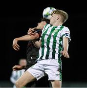 10 March 2020; Glen Hollywood of Bray Wanderers in action against Paul Cleary of Wexford FC during the EA Sports Cup First Round match between Wexford FC and Bray Wanderers at Ferrycarrig Park in Wexford. Photo by Matt Browne/Sportsfile