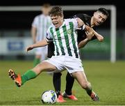 10 March 2020; Conor Beham of Bray Wanderers in action against Conor Crowley of Wexford FC during the EA Sports Cup First Round match between Wexford FC and Bray Wanderers at Ferrycarrig Park in Wexford. Photo by Matt Browne/Sportsfile