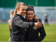 11 March 2020; Grace Moloney, left, and Clare Shine of Republic of Ireland ahead of the UEFA Women's 2021 European Championships Qualifier match between Montenegro and Republic of Ireland at Pod Malim Brdom in Petrovac, Montenegro. Photo by Stephen McCarthy/Sportsfile