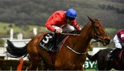 11 March 2020; Envoi Allen, with Davy Russell up, after jumping the last on their way to winning the Ballymore Novices' Hurdle on Day Two of the Cheltenham Racing Festival at Prestbury Park in Cheltenham, England. Photo by Harry Murphy/Sportsfile