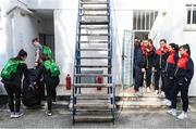 11 March 2020; Players of both sides ahead of the UEFA Women's 2021 European Championships Qualifier match between Montenegro and Republic of Ireland at Pod Malim Brdom in Petrovac, Montenegro. Photo by Stephen McCarthy/Sportsfile