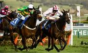 11 March 2020; Dame De Compagnie, with Barry Geraghty up, left, on their way to winning the Coral Cup Handicap Hurdle ahead of Black Tears, with Davy Russell up, on Day Two of the Cheltenham Racing Festival at Prestbury Park in Cheltenham, England. Photo by Harry Murphy/Sportsfile