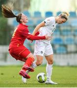 11 March 2020; Diane Caldwell of Republic of Ireland in action against Jelena Karlicic of Montenegro during the UEFA Women's 2021 European Championships Qualifier match between Montenegro and Republic of Ireland at Pod Malim Brdom in Petrovac, Montenegro. Photo by Stephen McCarthy/Sportsfile