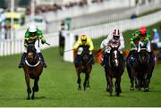 11 March 2020; Dame De Compagnie, with Barry Geraghty up, left, wins the Betway Queen Mother Champion Chase ahead of Black Tears, with Davy Russell up, 3rd from left, on Day Two of the Cheltenham Racing Festival at Prestbury Park in Cheltenham, England. Photo by David Fitzgerald/Sportsfile