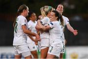 11 March 2020; Denise O'Sullivan of Republic of Ireland celebrates after scoring her side's third goal with team-mates during the UEFA Women's 2021 European Championships Qualifier match between Montenegro and Republic of Ireland at Pod Malim Brdom in Petrovac, Montenegro. Photo by Stephen McCarthy/Sportsfile