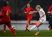 11 March 2020; Denise O'Sullivan of Republic of Ireland shoots to score her side's third goal during the UEFA Women's 2021 European Championships Qualifier match between Montenegro and Republic of Ireland at Pod Malim Brdom in Petrovac, Montenegro. Photo by Stephen McCarthy/Sportsfile