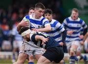 11 March 2020; John Devine of Garbally College is tackled by Hubert Gilvarry of Sligo Grammar during the Top Oil Connacht Schools Senior A Cup Final match between Garbally College and Sligo Grammar at The Sportsground in Galway. Photo by Matt Browne/Sportsfile