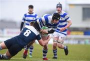11 March 2020; Jamie Curley of Garbally College is tackled by Kacper Palamaraczuk of Sligo Grammar during the Top Oil Connacht Schools Senior A Cup Final match between Garbally College and Sligo Grammar at The Sportsground in Galway. Photo by Matt Browne/Sportsfile