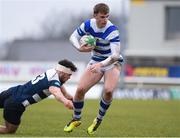 11 March 2020; Conor Goode of Garbally College is tackled by Hubert Gilvarry of Sligo Grammar during the Top Oil Connacht Schools Senior A Cup Final match between Garbally College and Sligo Grammar at The Sportsground in Galway. Photo by Matt Browne/Sportsfile