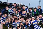 11 March 2020; Garbally College players celebrate with the senior cup after the Top Oil Connacht Schools Senior A Cup Final match between Garbally College and Sligo Grammar at The Sportsground in Galway. Photo by Matt Browne/Sportsfile