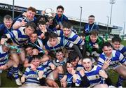 11 March 2020; Garbally College players celebrates with the senior cup after the Top Oil Connacht Schools Senior A Cup Final match between Garbally College and Sligo Grammar at The Sportsground in Galway. Photo by Matt Browne/Sportsfile