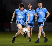 6 March 2020; Rory Dwyer of Dublin during the EirGrid Leinster GAA Football U20 Championship Final match between Laois and Dublin at Netwatch Cullen Park in Carlow. Photo by Matt Browne/Sportsfile