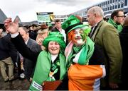 12 March 2020; Racegoers Aidan and Edel Connolly from Cork prior to racing on Day Three of the Cheltenham Racing Festival at Prestbury Park in Cheltenham, England. Photo by David Fitzgerald/Sportsfile