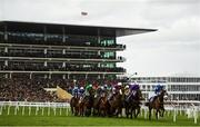 12 March 2020; A general view of runners and riders during the Pertemps Network Final Handicap Hurdle on Day Three of the Cheltenham Racing Festival at Prestbury Park in Cheltenham, England. Photo by Harry Murphy/Sportsfile
