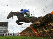 12 March 2020; The Jam Man, with Sean Flanagan up, jump the last during the Paddy Power Stayers' Hurdle on Day Three of the Cheltenham Racing Festival at Prestbury Park in Cheltenham, England. Photo by David Fitzgerald/Sportsfile