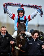 12 March 2020; Jockey Gavin Sheehan on Simply The Betts after winning the Brown Advisory & Merriebelle Stable Plate Handicap Chase on Day Three of the Cheltenham Racing Festival at Prestbury Park in Cheltenham, England. Photo by David Fitzgerald/Sportsfile