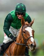 12 March 2020; Daryl Jacob on Concertista after winning the Daylesford Mares' Novices' Hurdle on Day Three of the Cheltenham Racing Festival at Prestbury Park in Cheltenham, England. Photo by Harry Murphy/Sportsfile