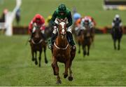 12 March 2020; Concertista, with Daryl Jacob up, on their way to winning the Daylesford Mares' Novices' Hurdle on Day Three of the Cheltenham Racing Festival at Prestbury Park in Cheltenham, England. Photo by Harry Murphy/Sportsfile