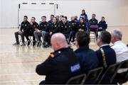 6 March 2020; Members of An Garda Síochána, Coolock, during a FAI Futsal Introductory Course certificate presentation, at Darndale Belcamp Recreation Centre in Dublin. Photo by Stephen McCarthy/Sportsfile