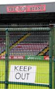 13 March 2020; A general view of Dalymount Park, home of Bohemian Football Club. Following directives from the Irish Government and the Department of Health the majority of the country's sporting associations have suspended all activity until March 29, in an effort to contain the spread of the Coronavirus (COVID-19). Photo by Stephen McCarthy/Sportsfile