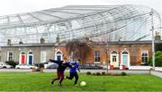 13 March 2020; Johnny Murphy, aged 8, right, and Toby Slye O'Connell, aged 11, both from Sandymount in Dublin, play soccer on Havelock Square, beside the Aviva Stadium. Following directives from the Irish Government and the Department of Health the majority of the country's sporting associations have suspended all activity until March 29, in an effort to contain the spread of the Coronavirus (COVID-19). Photo by Sam Barnes/Sportsfile
