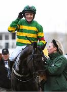 13 March 2020; Jockey Barry Geraghty on Saint Roi after winning the Randox Health County Handicap Hurdle on Day Four of the Cheltenham Racing Festival at Prestbury Park in Cheltenham, England. Photo by Harry Murphy/Sportsfile
