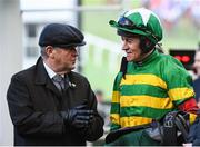 13 March 2020; Owner JP McManus with Jockey Barry Geraghty after sending out Saint Roi to win the Randox Health County Handicap Hurdle on Day Four of the Cheltenham Racing Festival at Prestbury Park in Cheltenham, England. Photo by Harry Murphy/Sportsfile