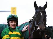13 March 2020; Jockey Barry Geraghty with Saint Roi after winning the Randox Health County Handicap Hurdle on Day Four of the Cheltenham Racing Festival at Prestbury Park in Cheltenham, England. Photo by Harry Murphy/Sportsfile