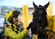 13 March 2020; Jockey Paul Townend with Al Boum Photo after winning the Magners Cheltenham Gold Cup Chase on Day Four of the Cheltenham Racing Festival at Prestbury Park in Cheltenham, England. Photo by Harry Murphy/Sportsfile