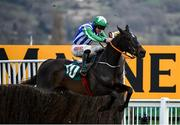 13 March 2020; Chosen Mate, with Davy Russell up, jump the last on their way to winning the Johnny Henderson Grand Annual Challenge Cup Handicap Chase on Day Four of the Cheltenham Racing Festival at Prestbury Park in Cheltenham, England. Photo by Harry Murphy/Sportsfile