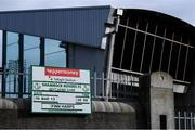 13 March 2020; A general view of Tallaght Stadium, home of Shamrock Rovers Football Club. Following directives from the Irish Government and the Department of Health the majority of the country's sporting associations have suspended all activity until March 29, in an effort to contain the spread of the Coronavirus (COVID-19). Photo by Stephen McCarthy/Sportsfile