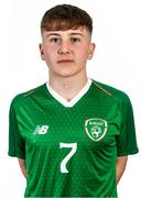 9 November 2018; Billy Vance during a Republic of Ireland U16's portrait session at Hotel Tralee in, Kerry. Photo by Domnick Walsh/Sportsfile