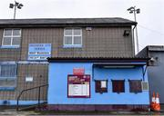 14 March 2020; A general view of United Park, home of Drogheda United Football Club. Following directives from the Irish Government and the Department of Health the majority of the country's sporting associations have suspended all activity until March 29, in an effort to contain the spread of the Coronavirus (COVID-19). Photo by Ben McShane/Sportsfile