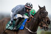 14 March 2020; Castlegrace Paddy, with Bryan Cooper up, on their way to winning Webster Cup Steeplechase ahead of Ornua, with Davy Russell up, at Navan Racecourse in Navan, Meath. Photo by Matt Browne/Sportsfile