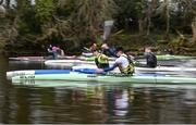 15 March 2020; Ben Smith, right, and Ruairí Bray left, during a Junior 'A' K1 Training session at Salmon Leap Canoe Club in Leixlip, Co Kildare. Photo by Sam Barnes/Sportsfile