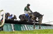 15 March 2020; Lady Breffni, with Robbie Power up, jumps the last on their way to finishing second in the Kerry Group Irish EBF Shannon Spray Mares Novice Hurdle at Limerick Racecourse in Patrickswell, Limerick. Photo by Seb Daly/Sportsfile