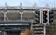15 March 2020; A general view of Croke Park Stadium. Following directives from the Irish Government and the Department of Health the majority of the country's sporting associations have suspended all activity until March 29, in an effort to contain the spread of the Coronavirus (COVID-19). Photo by Sam Barnes/Sportsfile