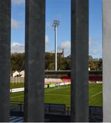 15 March 2020; A general view of Ryan McBride Brandywell stadium in Derry City. Following directives from the Irish Government and the Department of Health the majority of the country's sporting associations have suspended all activity until March 29, in an effort to contain the spread of the Coronavirus (COVID-19). Photo by Oliver McVeigh/Sportsfile