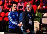 16 March 2020; Irish boxers Kelly Harrington, left, and Christina Desmond on Day Three of the Road to Tokyo European Boxing Olympic Qualifying Event at Copper Box Arena in Queen Elizabeth Olympic Park, London, England. Photo by Harry Murphy/Sportsfile