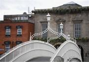 17 March 2020; The Ha'penny Bridge in Dublin following UEFA's meeting to discuss the upcoming tournament amid the on-going global pandemic of Coronavirus (COVID-19), the decision has been taken to postpone the tournament until June 2021. Dublin, one of 12 host cities across Europe, is due to host UEFA EURO 2020. The Aviva Stadium is scheduled to host three group games and one round 16 game. Photo by Stephen McCarthy/Sportsfile