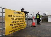 17 March 2020; Race course security Peter and Paul Keane at the Main Gate on the way into Wexford Racecourse in Carricklawn, Wexford. Photo by Matt Browne/Sportsfile