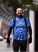 18 March 2020; Glenavon footballer Conan Byrne, formerly of UCD, Sporting Fingal, Shelbourne and St Patrick's Athletic, arrives at the Aviva Stadium during his marathon walk in aid of the Irish Cancer Society which took in every SSE Airtricity League of Ireland stadium in the Dublin region and which started off in Tolka Park and finished at the Aviva Stadium. Photo by Sam Barnes/Sportsfile